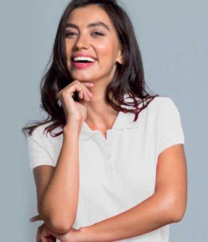 Μπλουζάκι Πόλο Γυναικείο με τύπωμα του λογοτύπου σας