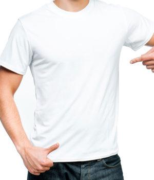 Μακό μπλουζάκι Λευκό με τύπωμα του λογοτύπου σας
